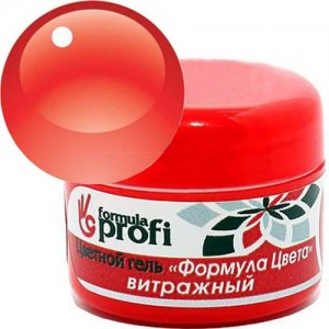 Витражный гель №03 красно-коричневый 5гр Формула Профи 2450