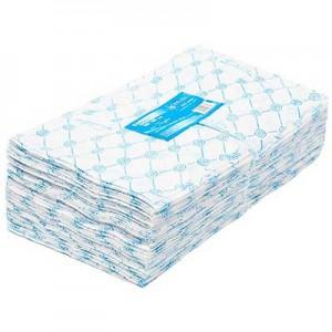 Салфетка 30*40 100 шт спанлейс 40 гр голубые (330) White line