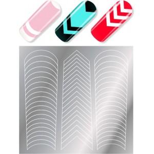 Трафареты для дизайна ногтей MILV Россия