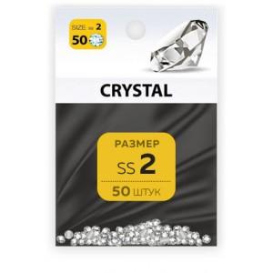 Стразы хрустальные размер SS2 кристал 50 шт MILV