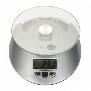 Весы электронные до 5 кг серебро МЕЛОН ПРОФЕШНЛ MIKS010