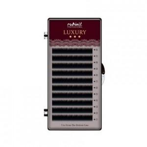 Ресницы для наращивания Luxury d 0,1мм, Mix D (№ 7,8,9,10,11,12,14) 12 линий 3973 RuNail