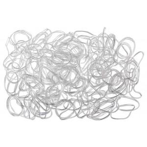 Резинки для волос силикон TPU прозрачные 100 шт Эверест