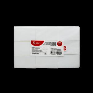 Безворсовые салфетки из нетканого материала 600 шт/уп для маник. и педикюра WNM-600 Формула Профи