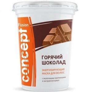 Маска FUSION Горячий шоколад энергизирующая с экстр. какао 450 мл 16138 CONCEPT