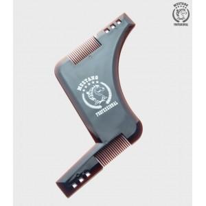 Расческа для бороды Mustang MRBB01 Коричневая