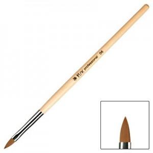Кисть плоская для акрила IRISK с деревянной ручкой, в тубе № 6 IRISK