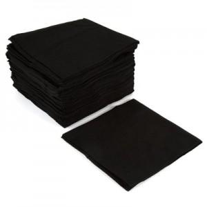 Салфетки гладкие 10*10 черные спанлейс (100 шт) 601010 Игро