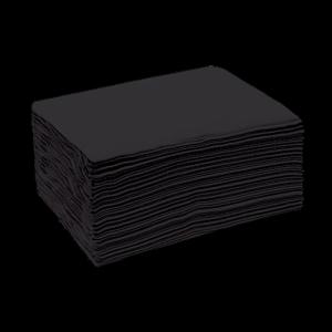 Полотенце 35*70 спанлейс черный White line (№50шт) 9719