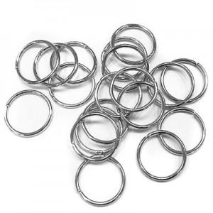 Кольца для кос (серебро) уп.20шт.