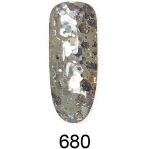 Глиттер гель (Glitter gel) 680, 5ml FOXY expert