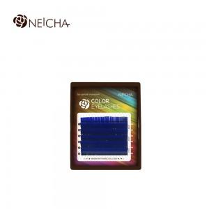 Ресницы цветные NEICHA Blue MINI 6 линий B 0,07 MIX 8.2 (8-13)