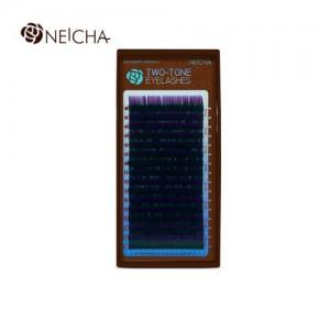 Ресницы двухцветные NEICHA Black-Violet 16 линий C 0,10 MIX 8.2 (8-14)