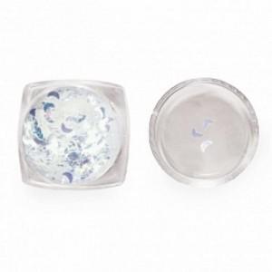 Дизайн для ногтей пайетки зеркальные(полумесяц) 3791 RuNail